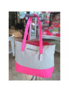 Сумка LOGO TOTE BAGBEACH BAG SIZE  LARGE COLOR PINKBEIGE