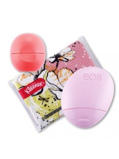 Набор: бальзам для губ, крем для рук и салфетки EOS  Limited Edition Pink Grapefruit Lip Balm, Hand Lotion & Kleenex Kit