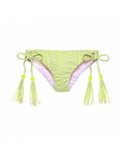 Плавки Victoria's Secret Reversible Back Ruched Bikini Bottoms Braided 79s Green/Purple