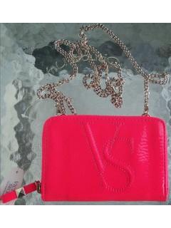 Клатч-кошелек на цепочке  Pink Mini Crossbody Bag Wallet Clutch