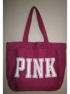 Сумка PINK Purple & White zip up Big Shoppers Gym Tote BAG Purs