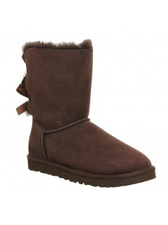 UGG Australia Bailey Bow Chocolate Угги с лентами