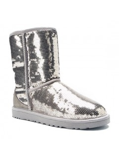 UGG Classic Short Sparkles 3161 Silver