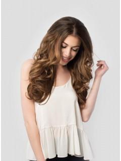 Волосы каштаново-коричневые #6